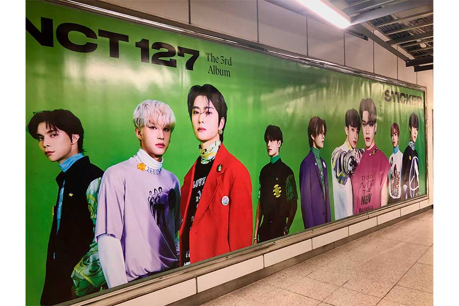 NCT Stiker カムバック 渋谷 巨大広告