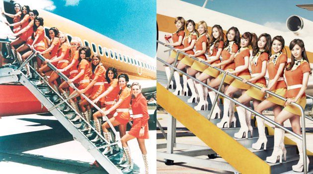 PSA航空会社のユニフォーム 少女時代